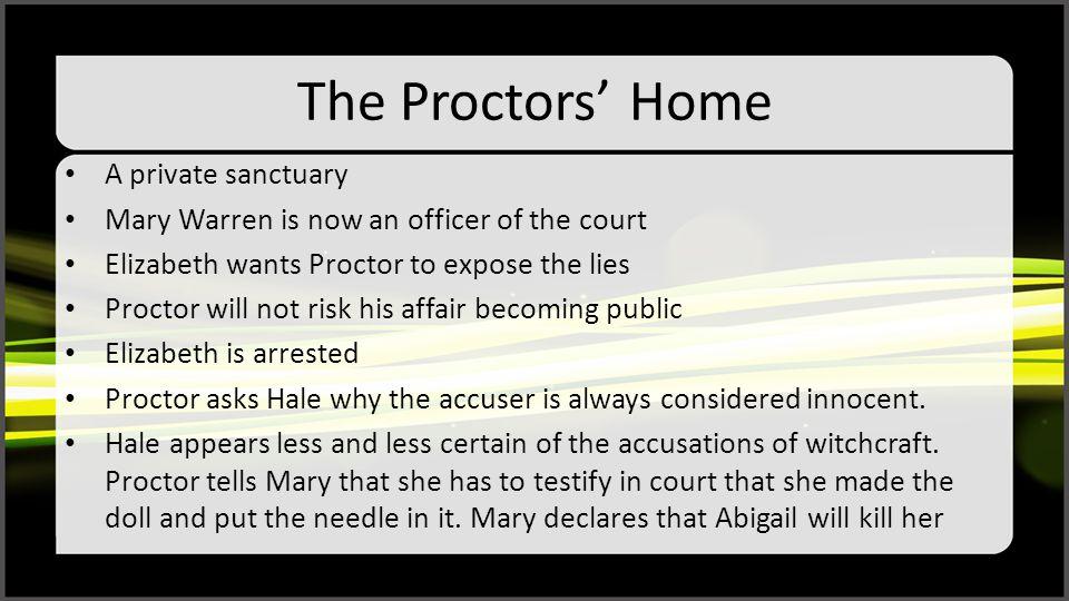 The Proctors' Home A private sanctuary