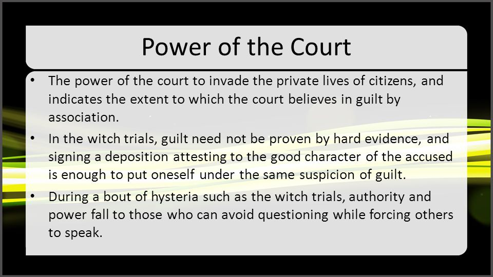 Power of the Court