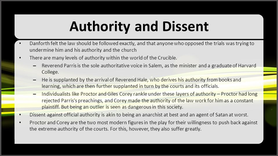 Authority and Dissent