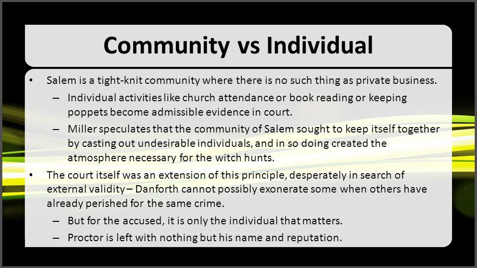 Community vs Individual