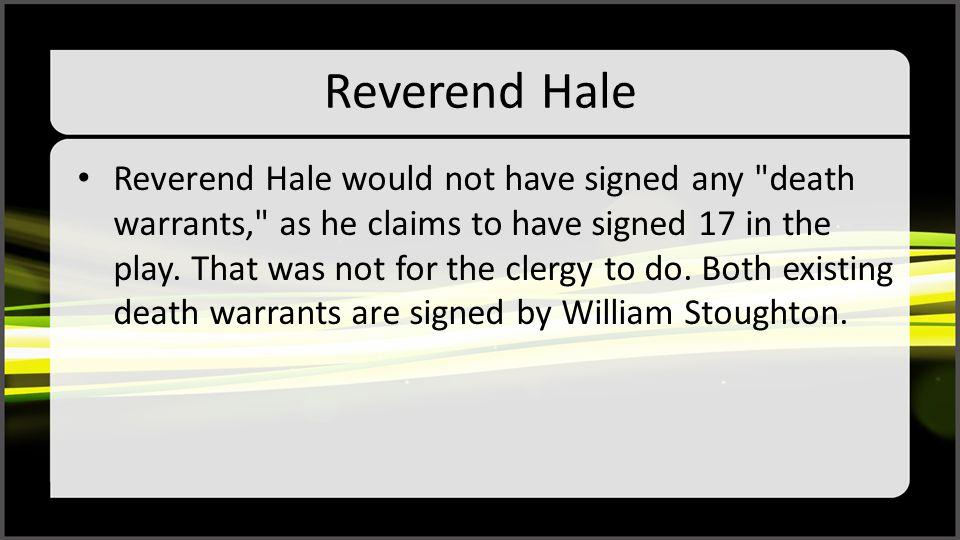 Reverend Hale