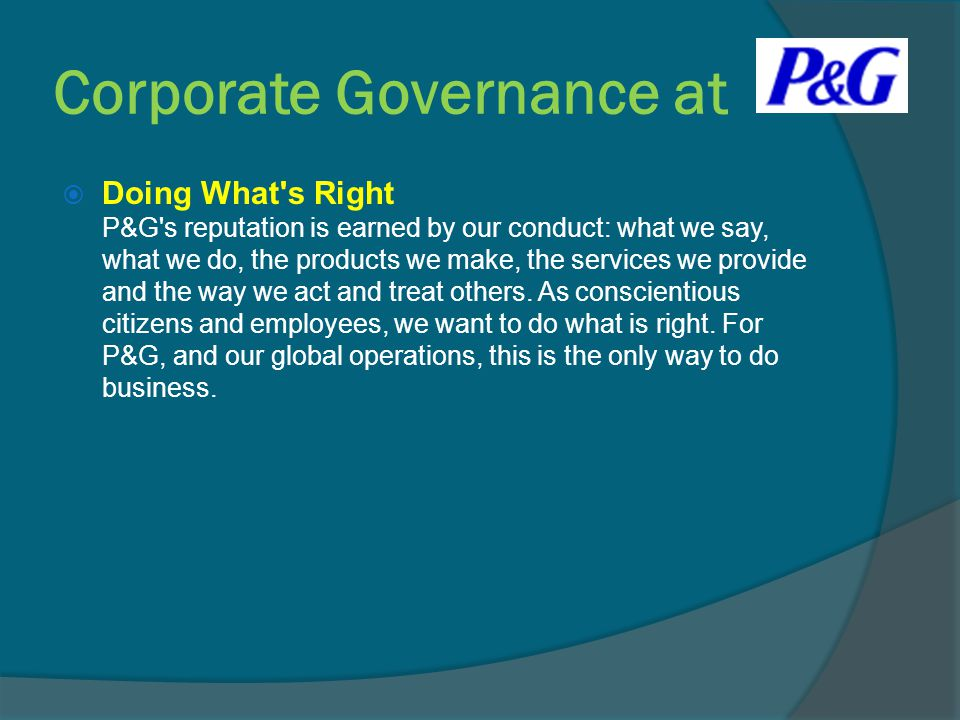 Corporate Governance at