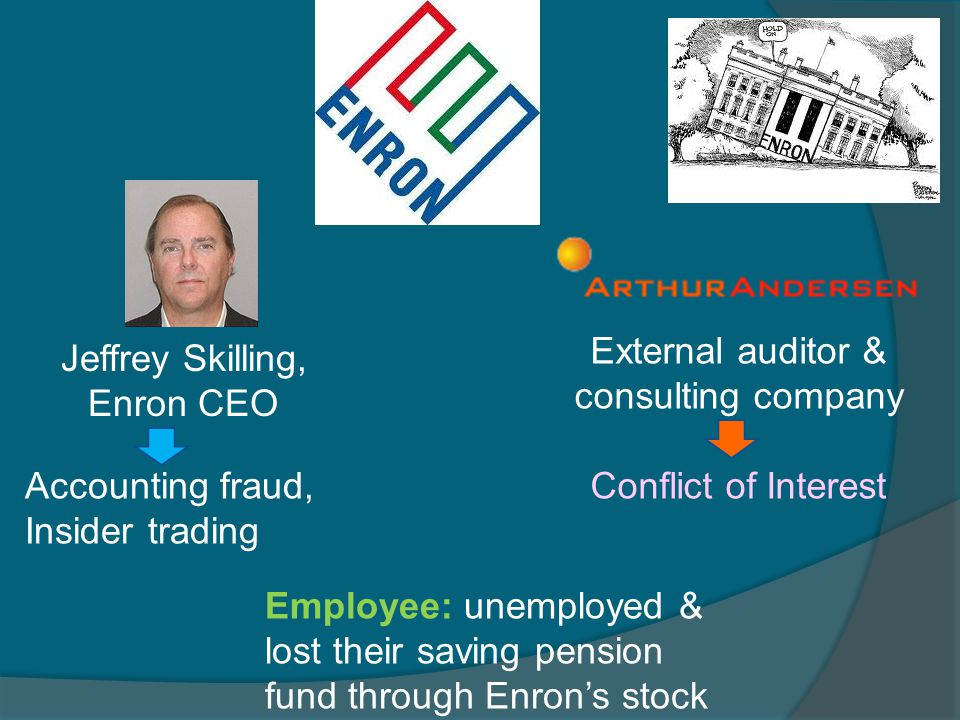 External auditor & consulting company Jeffrey Skilling, Enron CEO