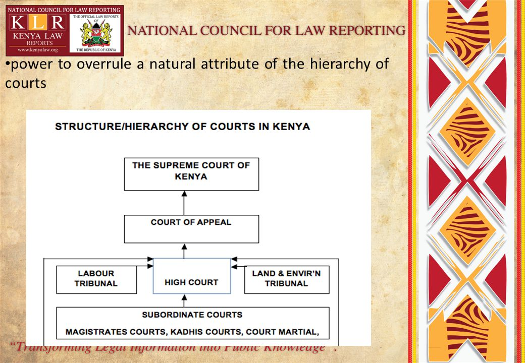 power to overrule a natural attribute of the hierarchy of courts