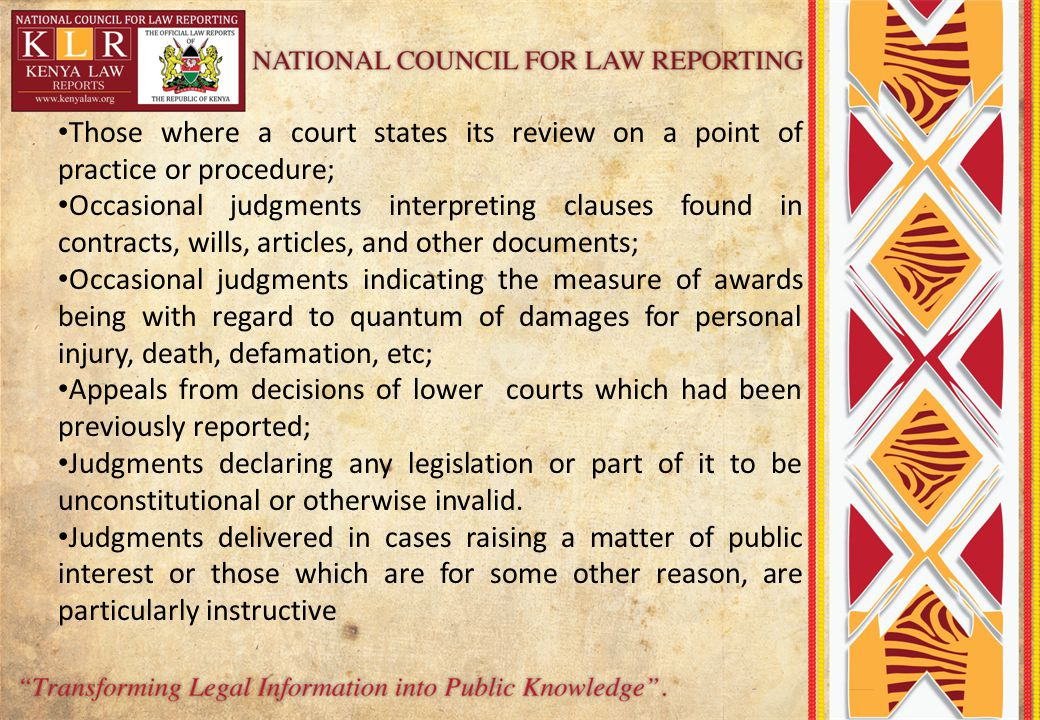 Those where a court states its review on a point of practice or procedure;