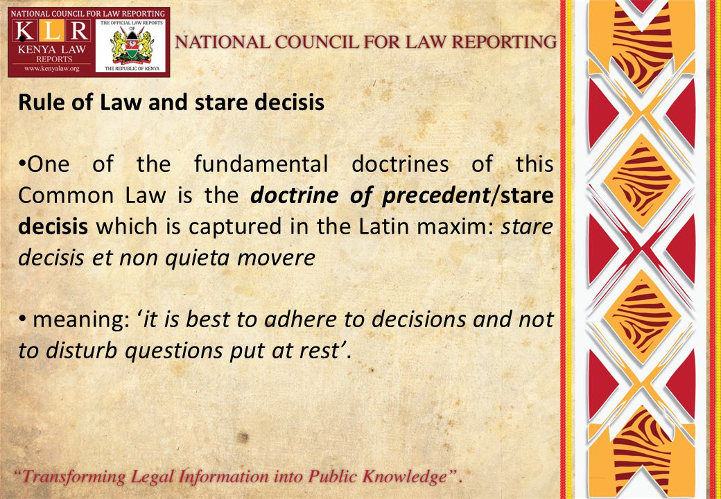 Rule of Law and stare decisis