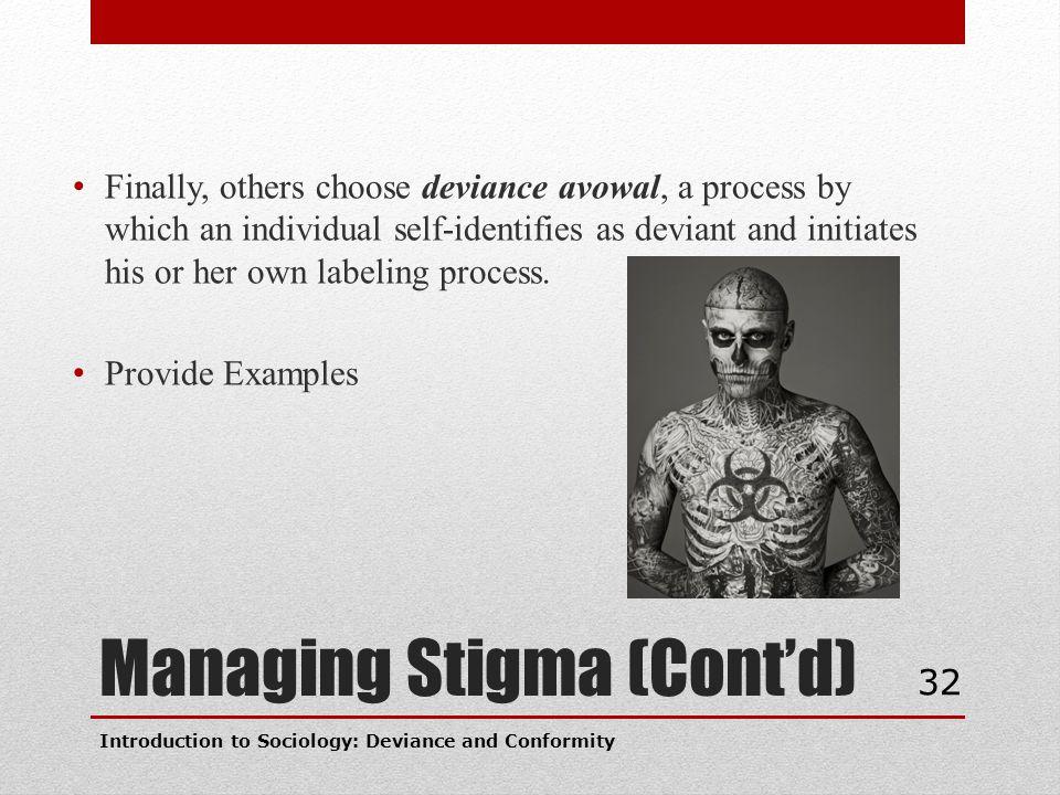 Managing Stigma (Cont'd)