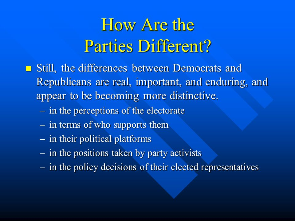 How Are the Parties Different