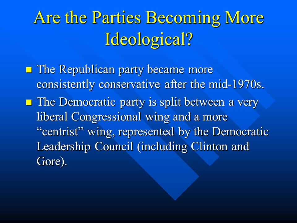 Are the Parties Becoming More Ideological
