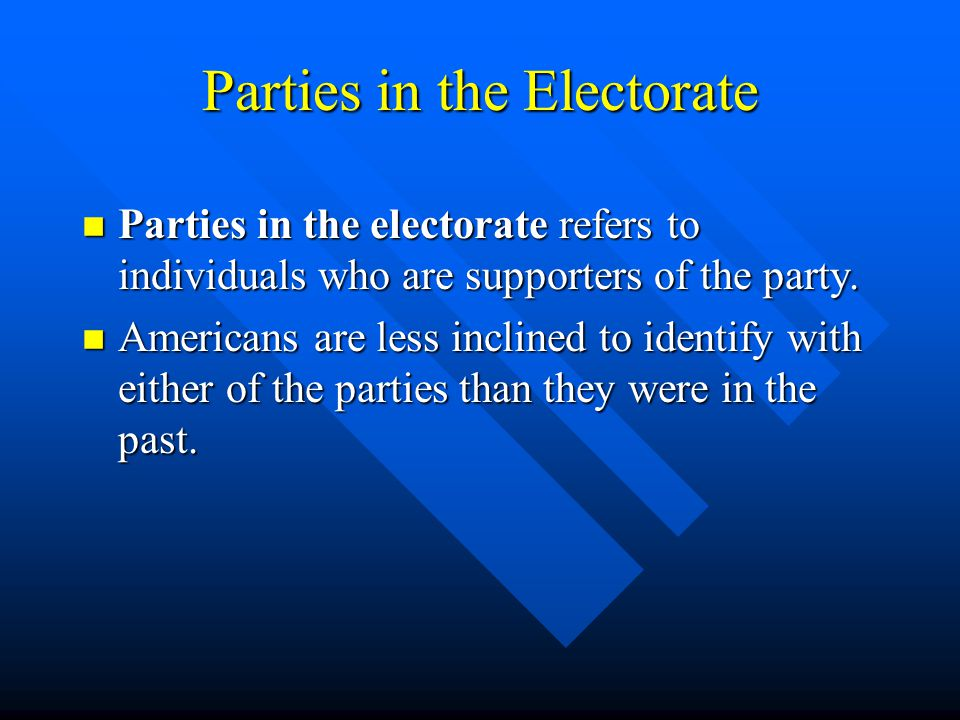 Parties in the Electorate