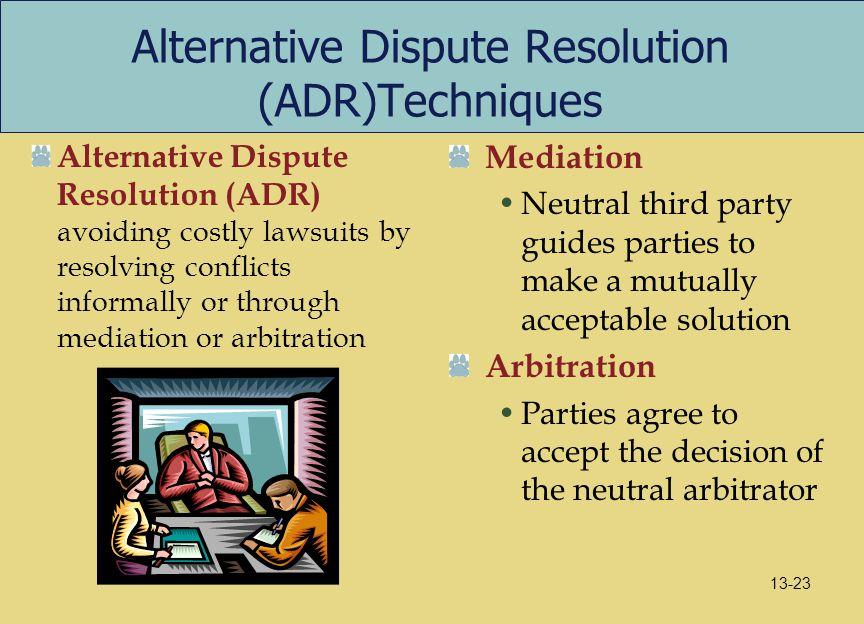 Alternative Dispute Resolution (ADR)Techniques