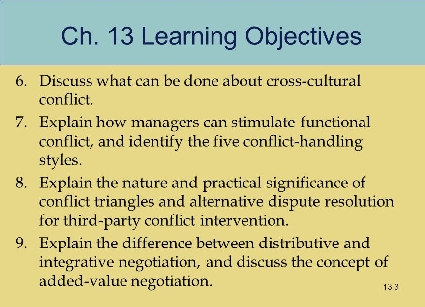 Ch. 13 Learning Objectives