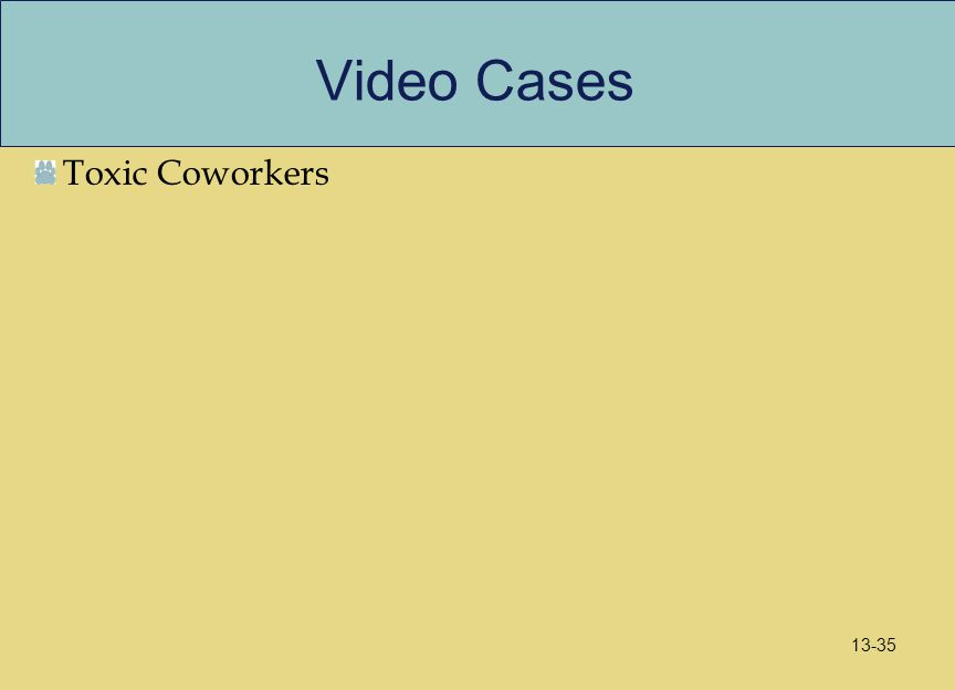 Video Cases Toxic Coworkers