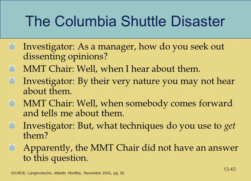 The Columbia Shuttle Disaster