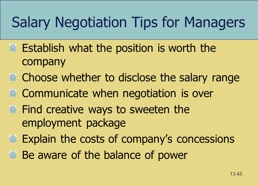 Salary Negotiation Tips for Managers