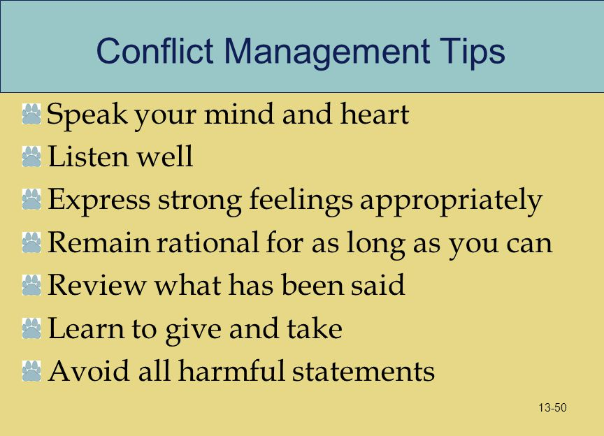Conflict Management Tips