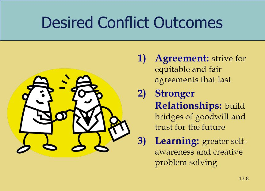 Desired Conflict Outcomes