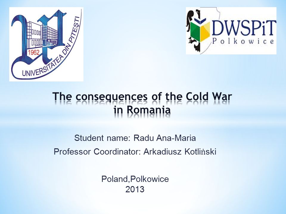 The consequences of the Cold War in Romania