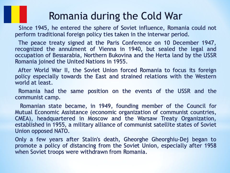 Romania during the Cold War