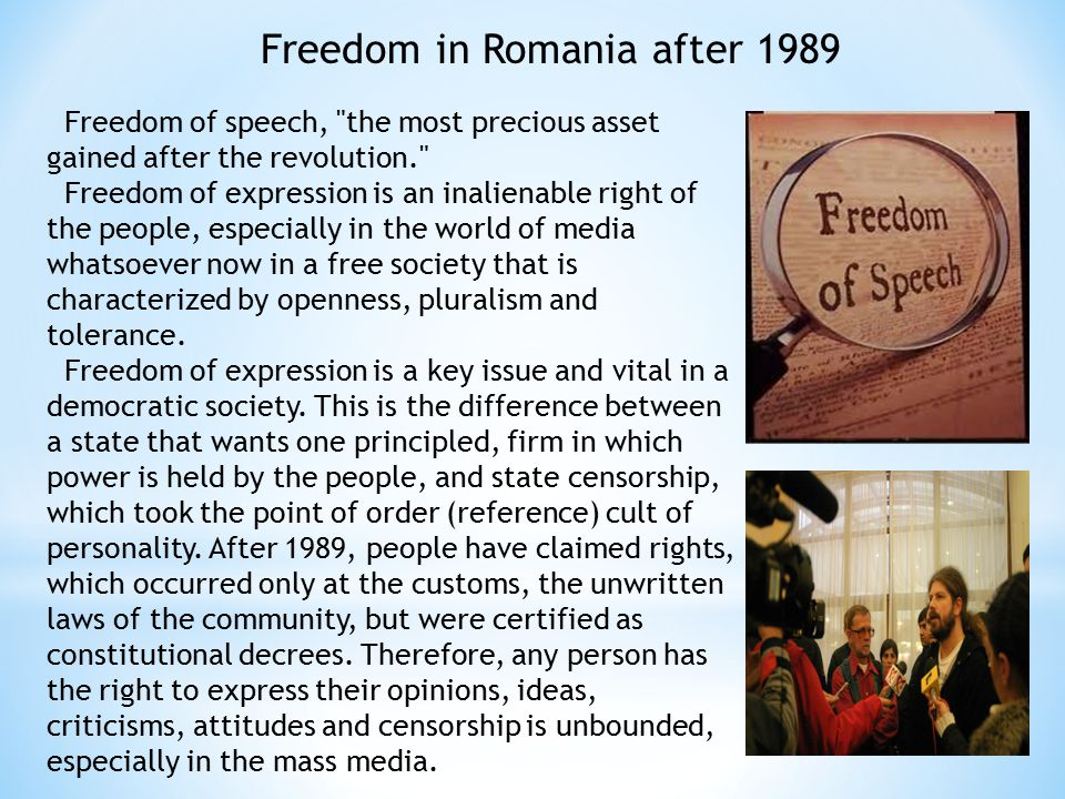Freedom in Romania after 1989