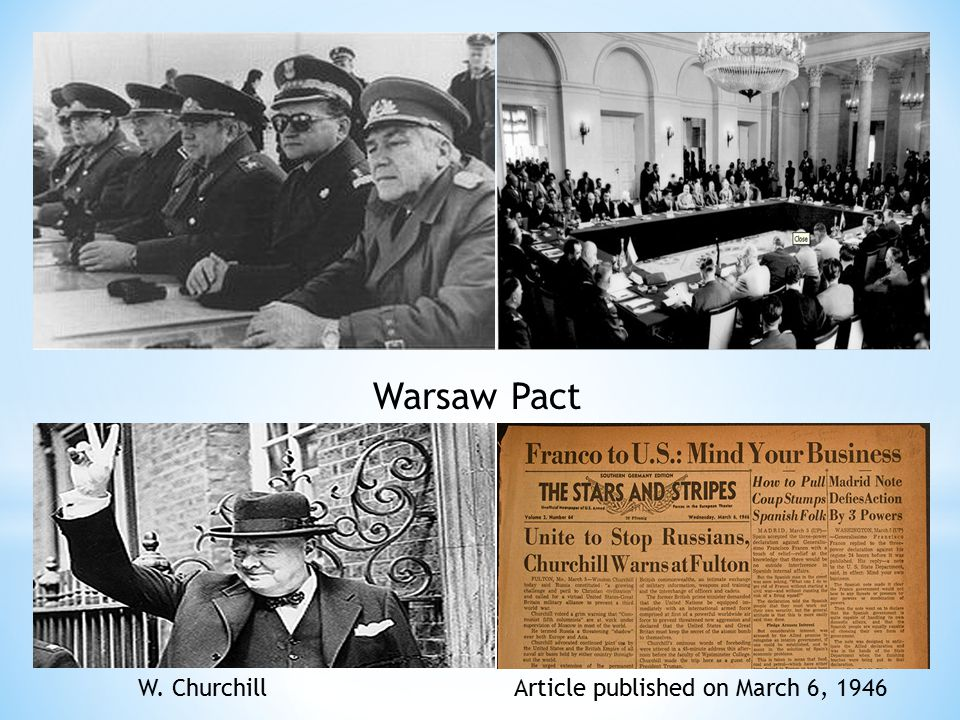 Warsaw Pact W. Churchill Article published on March 6, 1946
