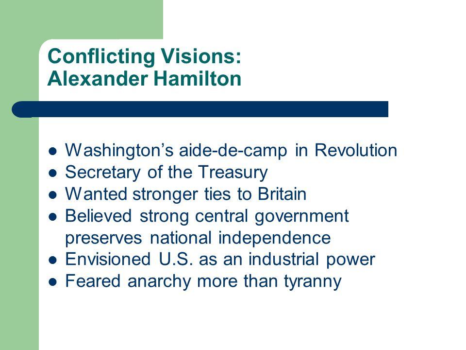 Conflicting Visions: Alexander Hamilton