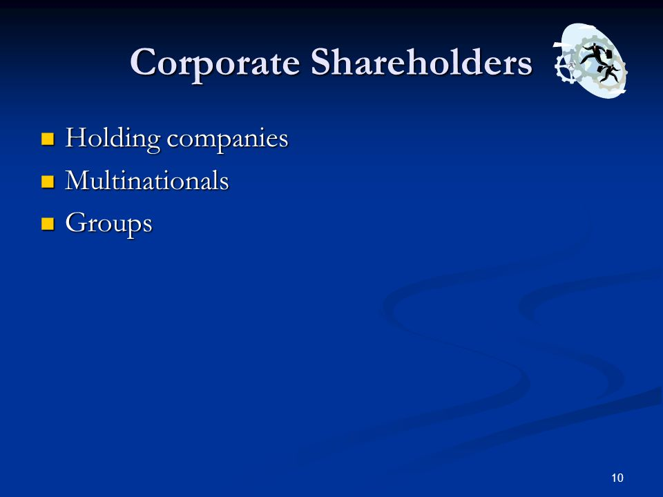 Corporate Shareholders
