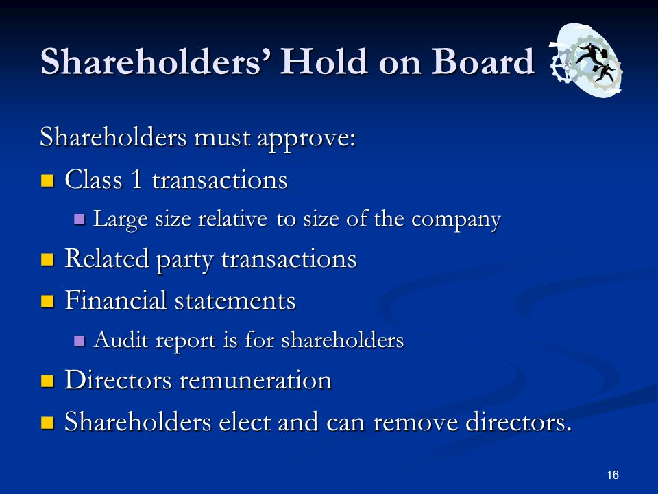 Shareholders' Hold on Board