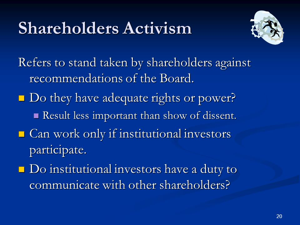 Shareholders Activism