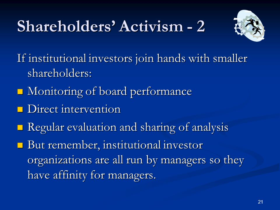 Shareholders' Activism - 2