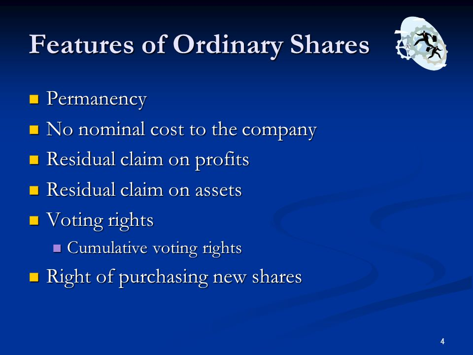 Features of Ordinary Shares