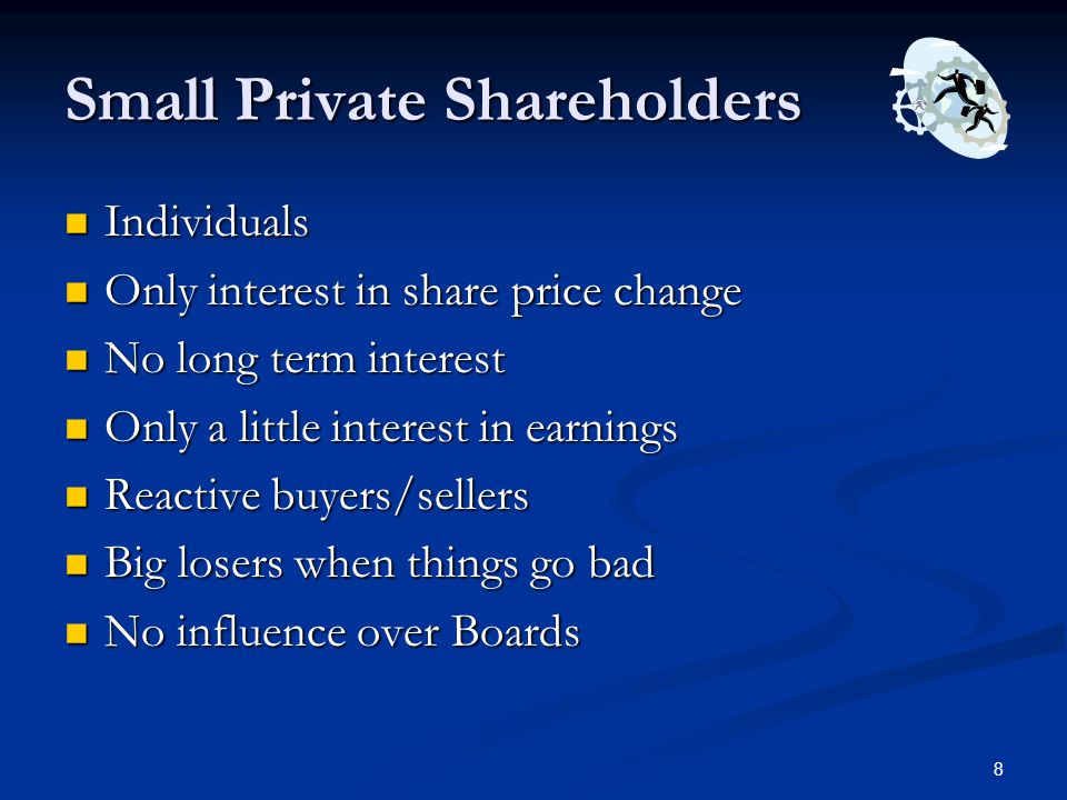 Small Private Shareholders