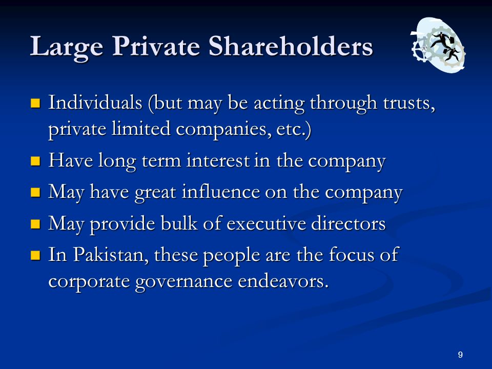 Large Private Shareholders