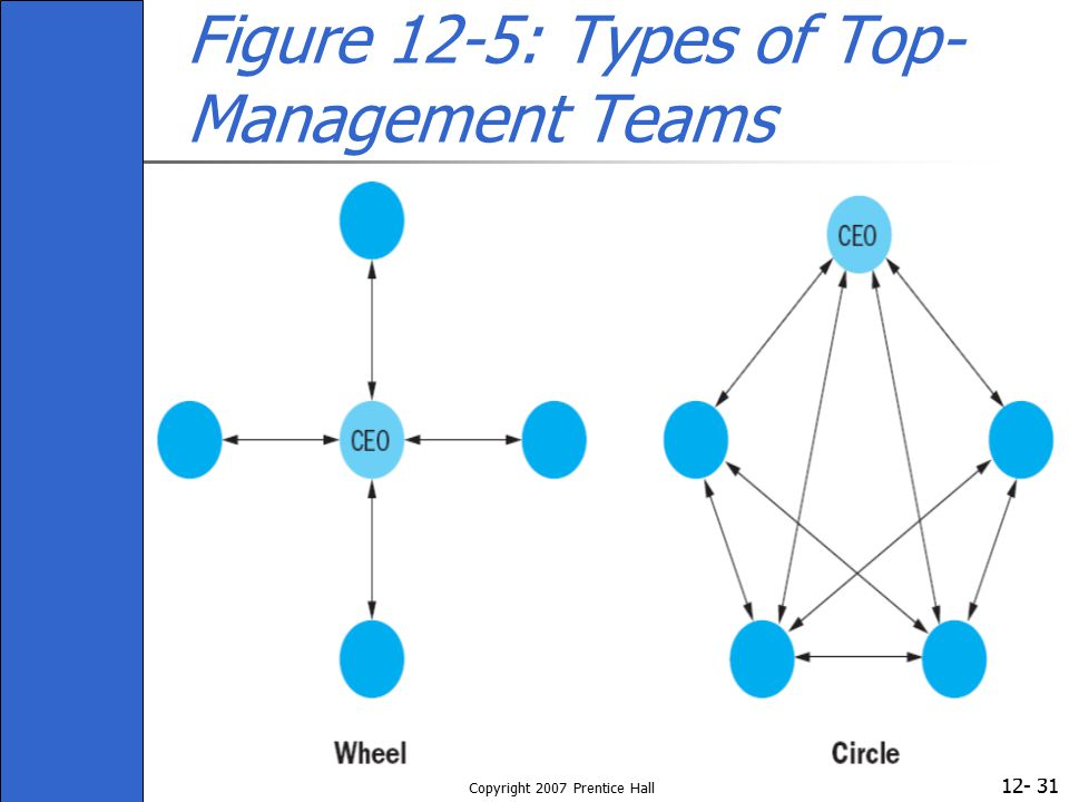 Figure 12-5: Types of Top-Management Teams