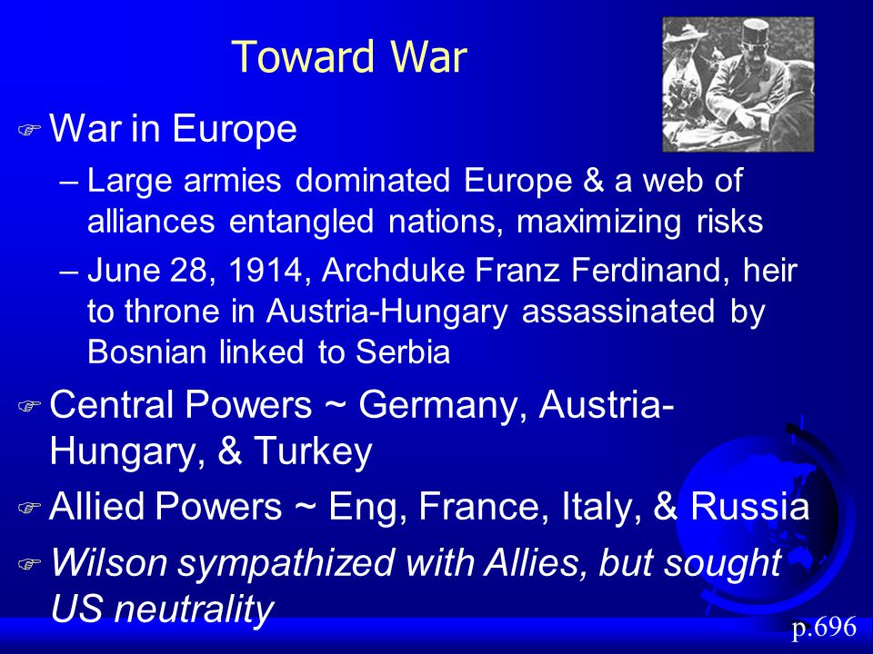Toward War War in Europe