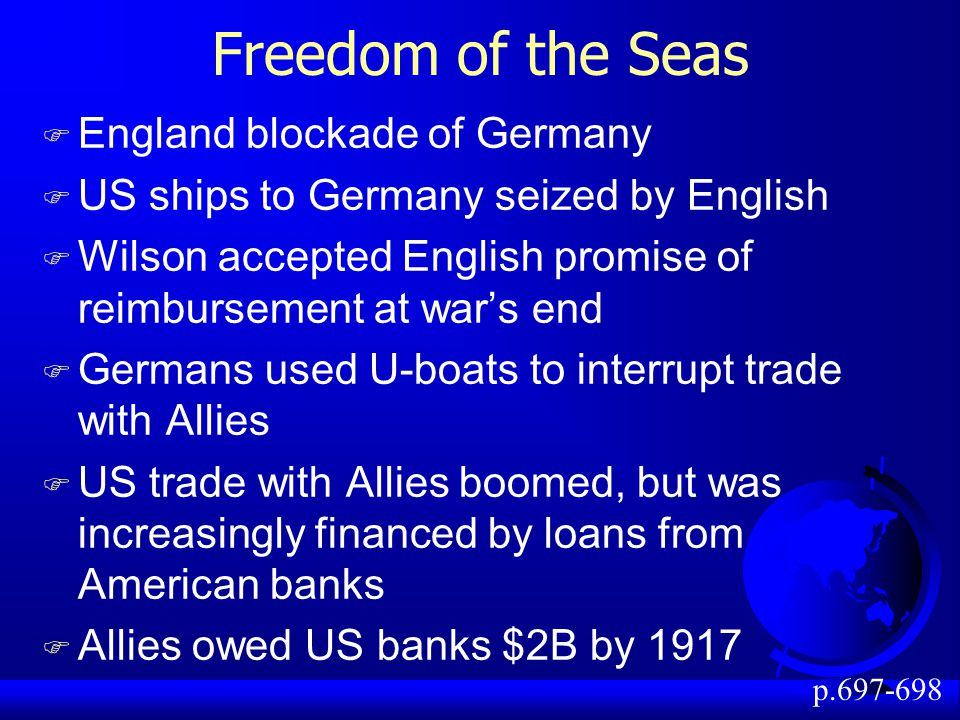 Freedom of the Seas England blockade of Germany