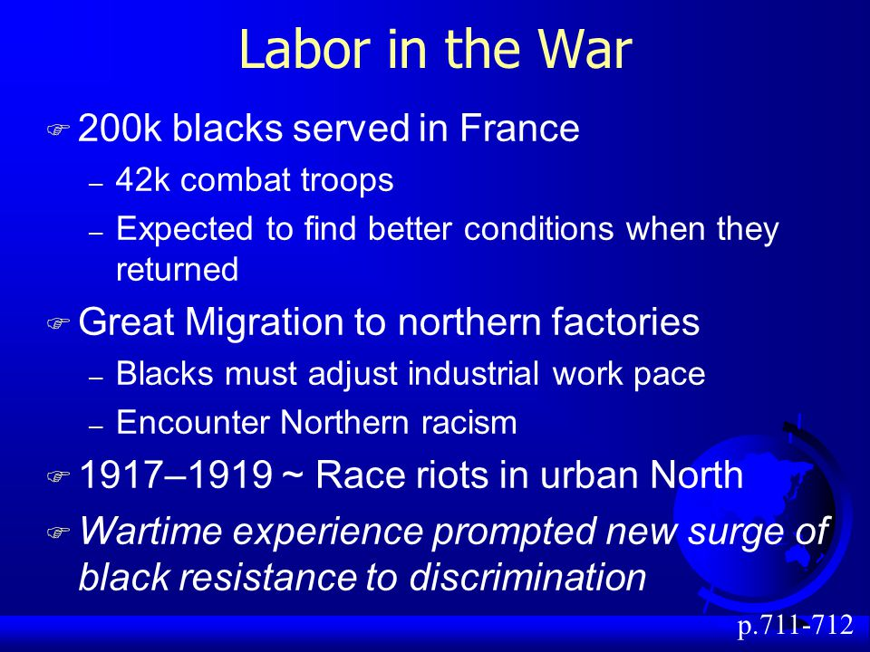 Labor in the War 200k blacks served in France