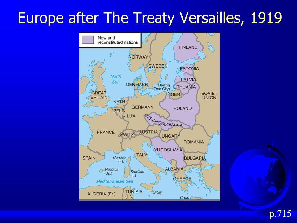 Europe after The Treaty Versailles, 1919