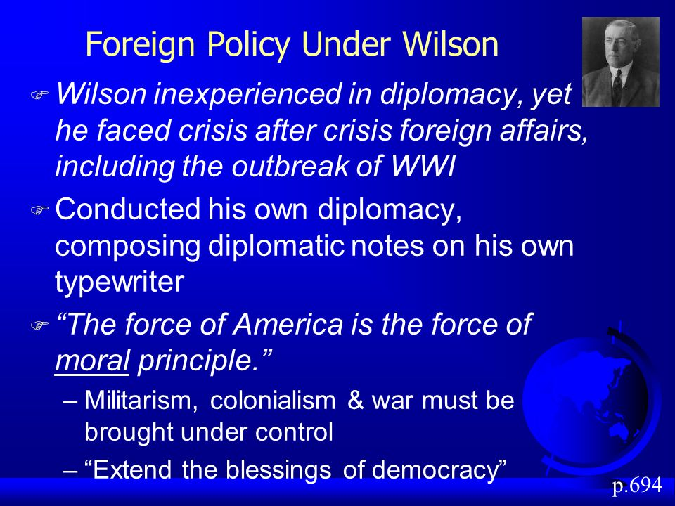 Foreign Policy Under Wilson