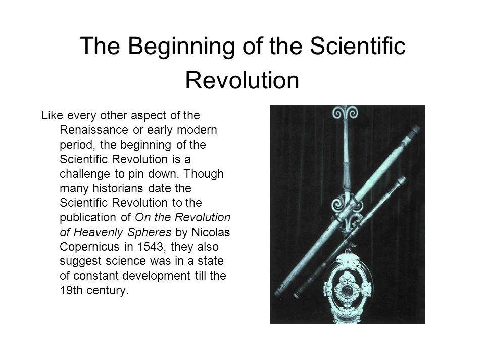 The Beginning of the Scientific Revolution