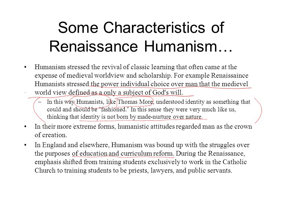 Some Characteristics of Renaissance Humanism…