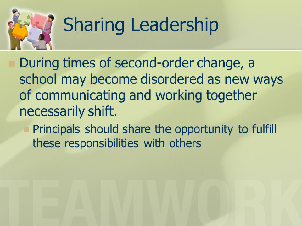 Sharing Leadership