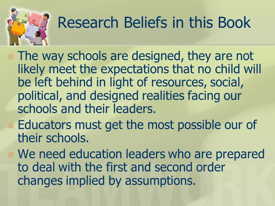 Research Beliefs in this Book