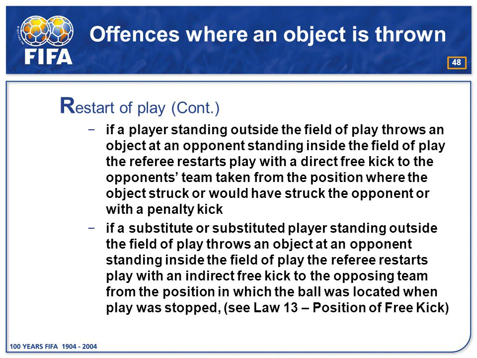 Offences where an object is thrown