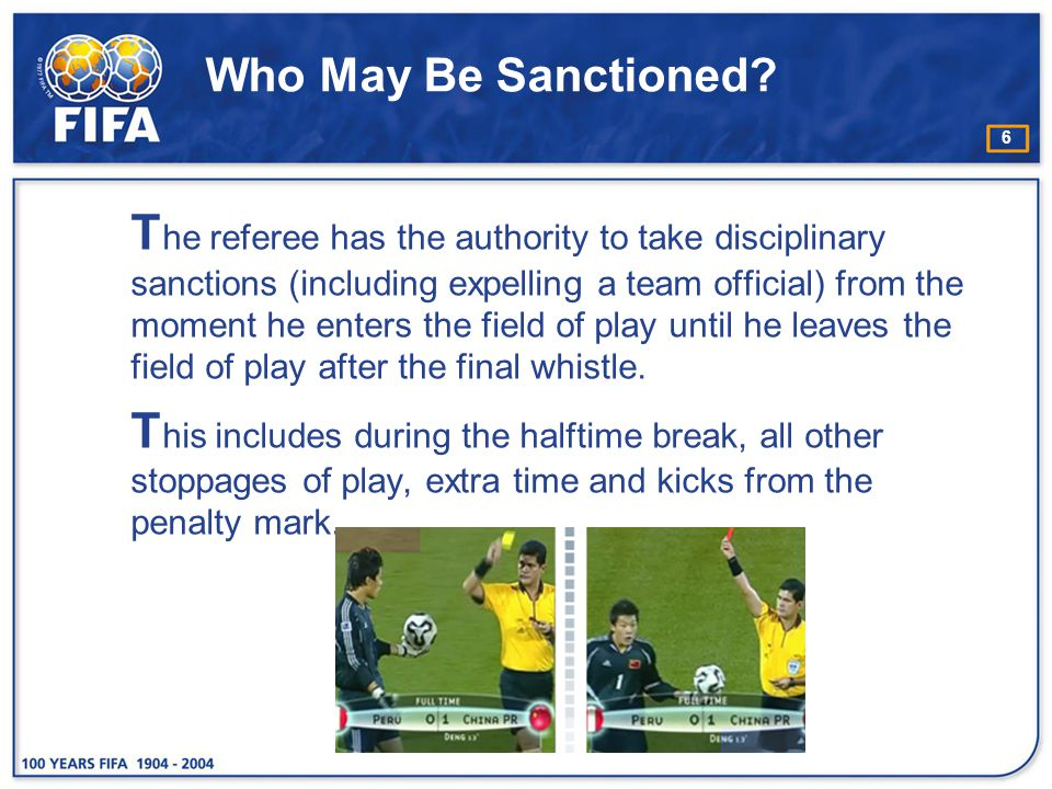 Who May Be Sanctioned