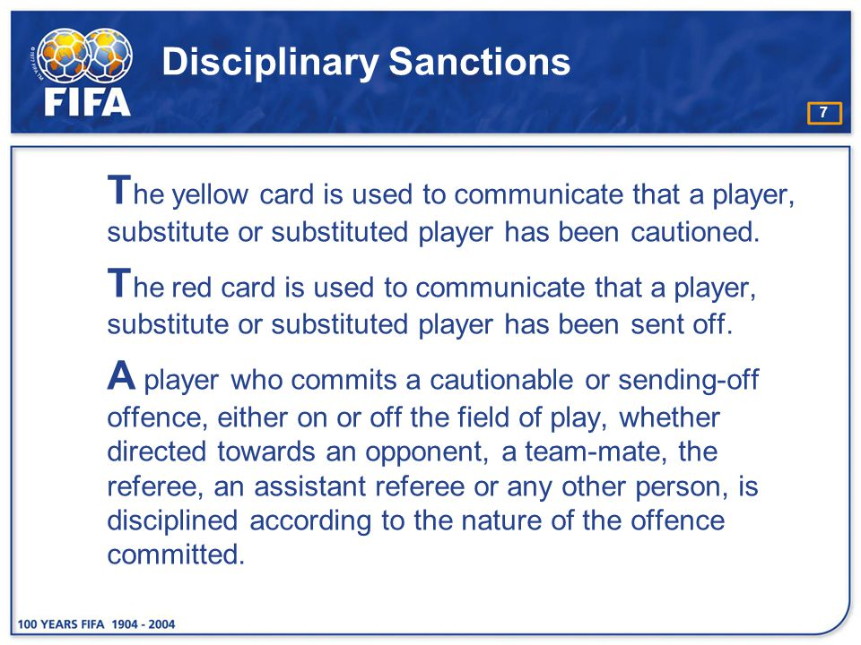Disciplinary Sanctions