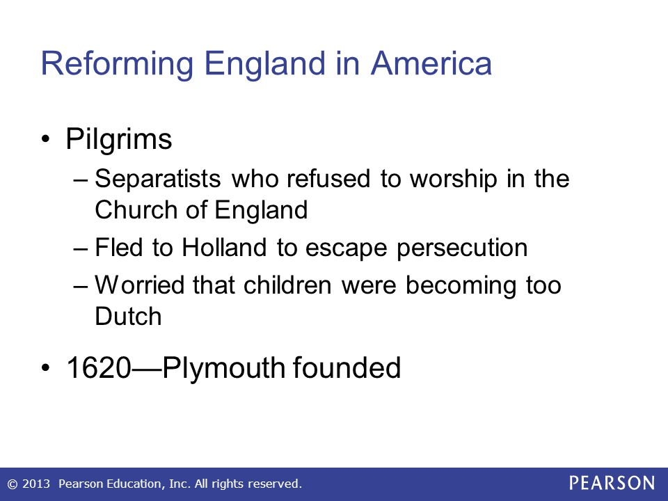 Reforming England in America