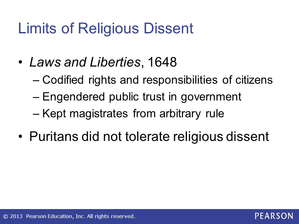 Limits of Religious Dissent