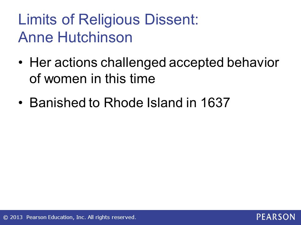 Limits of Religious Dissent: Anne Hutchinson