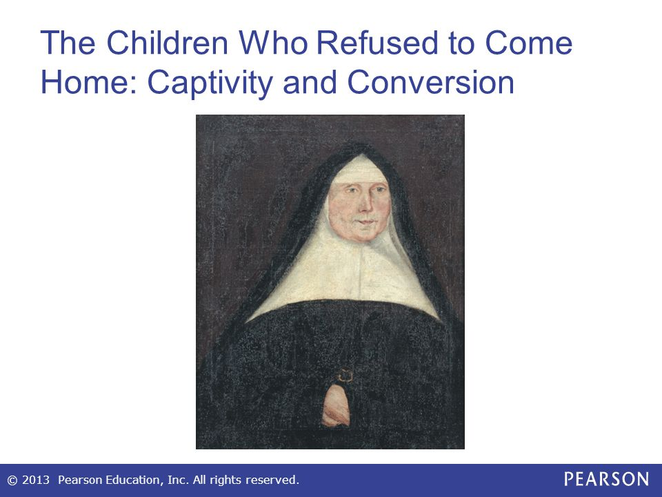 The Children Who Refused to Come Home: Captivity and Conversion
